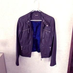 Jou Jou Brown Leather Jacket - Medium Women's
